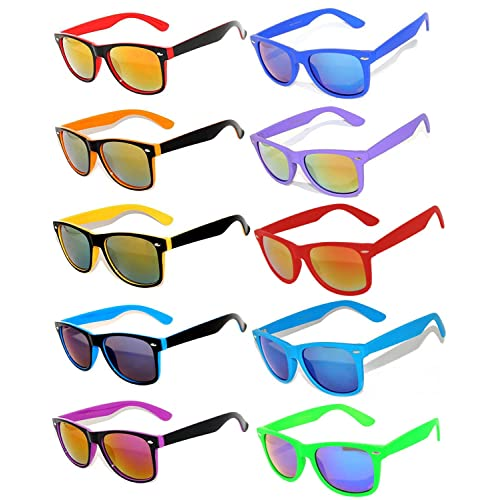 19f27eb5bdb4 Retro Vintage Sunglasses Colorful Mirror Lens Matte Frame 3