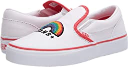 (Chenille) Rainbow/True White
