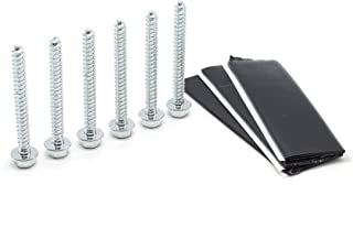 Pitch Pad Kit - Zinc - Grade 5 Steel Lag Bolts (6) and Mastic Pads (3) for Roof Antennas, TV Mounts, Tripods, and Satellit...
