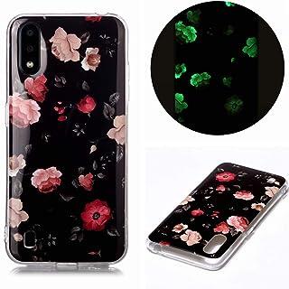 جراب لهاتف Samsung Galaxy A10، تصميم زهرة الورد، جراب خلفي واقي مرن من المطاط والسيليكون المقاوم للصدمات