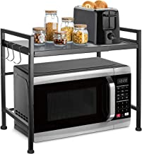 Xcellent Global Stainless Steel 2-Tier Corner Kitchen Storage Unit Shelving Rack, Dish, Pan and Pot Organizer Cookware Hol...