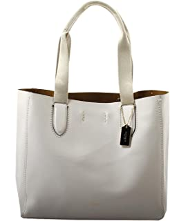 Pebble Leather Derby Tote in Chalk Neutral, F58660 IMLOM
