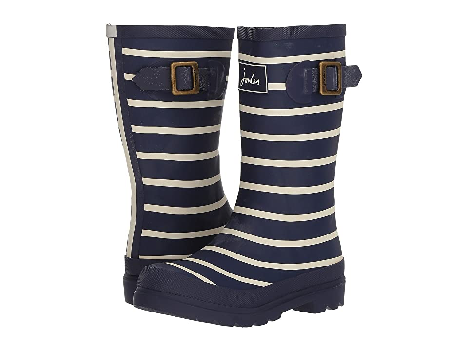 Joules Kids Printed Welly Rain Boot (Toddler/Little Kid/Big Kid) (French Navy Stripe) Boys Shoes