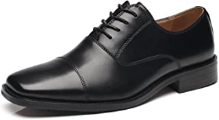 Men's Dress Shoes Leather Oxford Shoes for Men Comfortable Classic Modern Formal Business Shoes