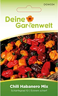 Chili Habanero Mix | Chilisamen | Samen für scharfe Chilis | Habanerosamen