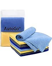 AutoGo マイクロファイバークロス 吸水 速乾 40CM*40CM 4色【8枚入】