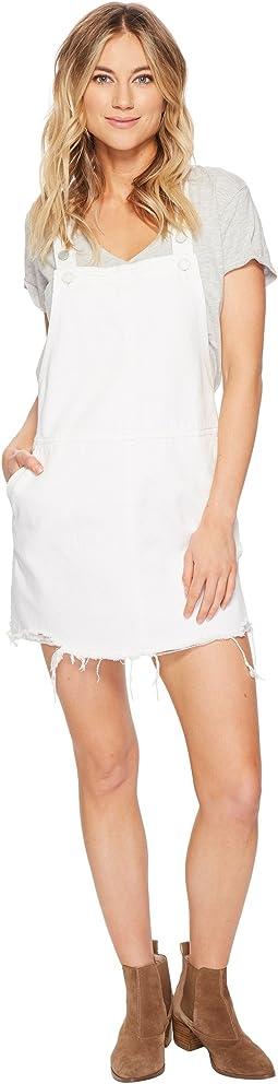 Raw Edge Skirtall in Lightbox White