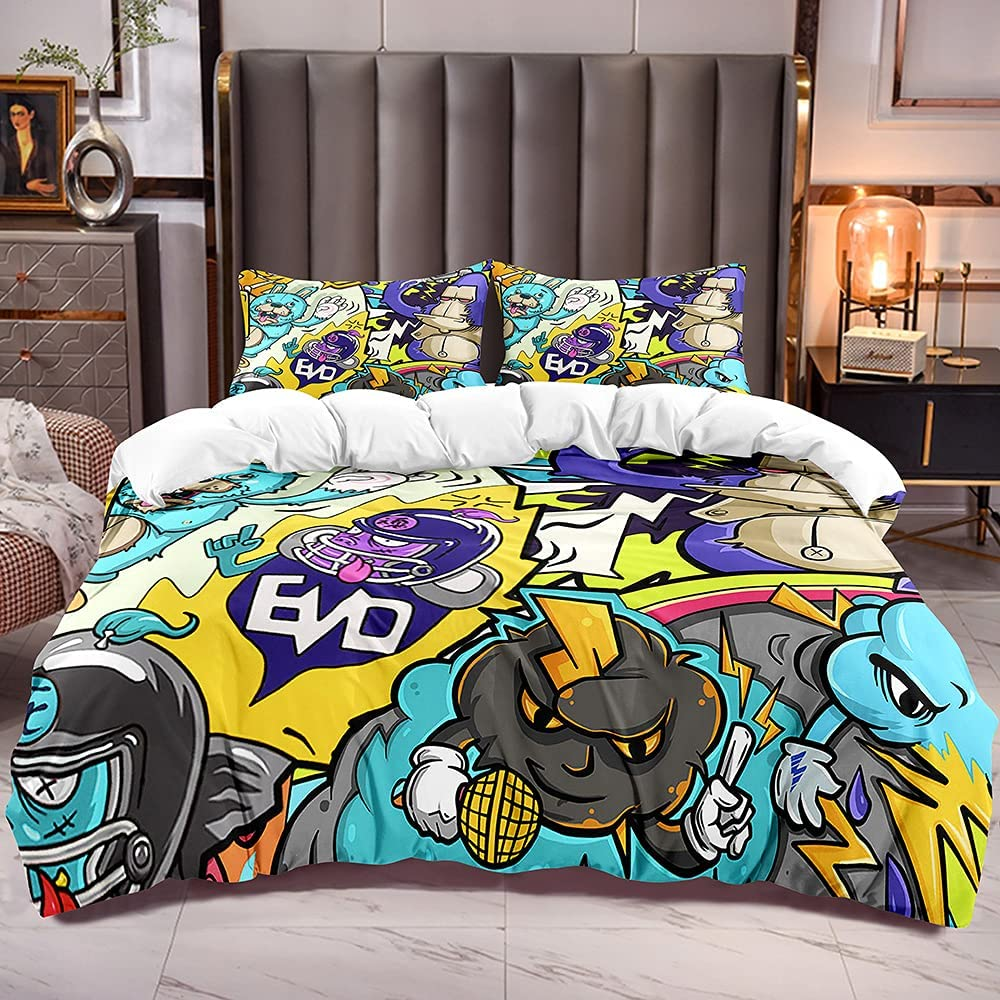 Kids Nashville-Davidson Mall Comforter Cover Popular products Cal King Size Mo Animal Cartoon with Rabbit