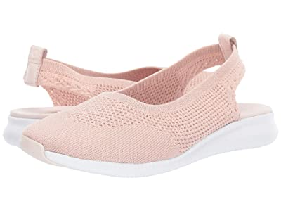 Cole Haan 2.Zerogrand Stitchlite Ballet Sling (Morganite/Mahagony Rose Knit/Optic White) Women
