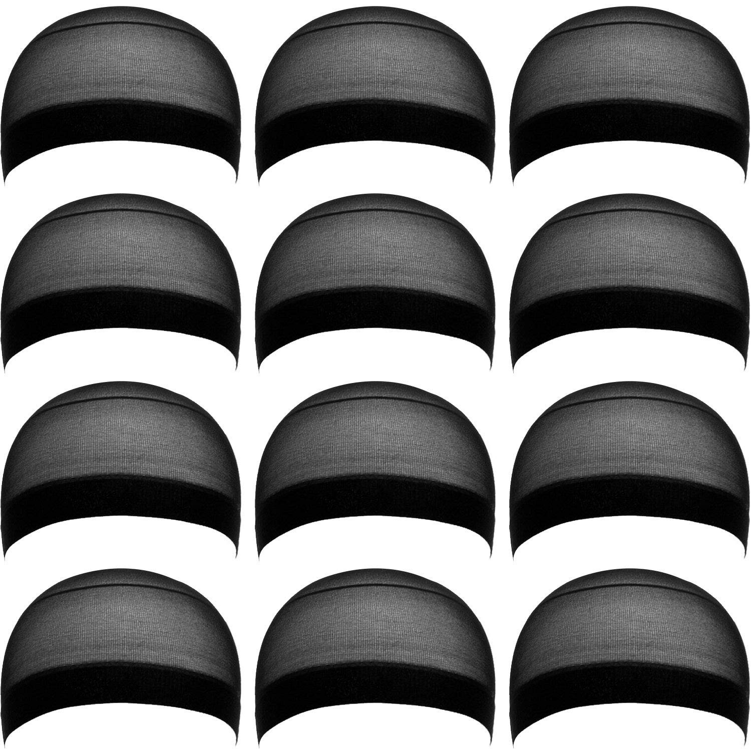 eBoot 12 Sales of SALE items from new works Pack Nylon Wig Caps Men for Women and Black NEW before selling
