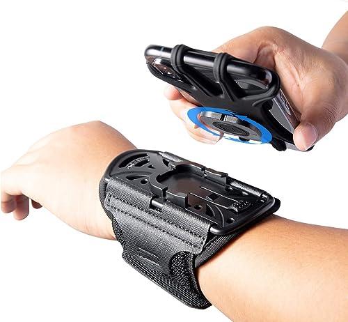 HLOMOM Wristband Phone Holder for iPhone 12/12 Pro Max/XR/11/X/8 Plus/8/7/6 Plus Detachable Sports Wristband, Running...