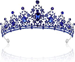 AOPRIE Artemis Tiaras and Crowns for Women Princess Tiara for Little Girls Crystal Hair Accessories