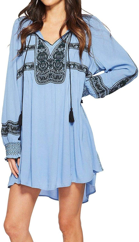 Free People Wind Willow Mini Dress (bluee)