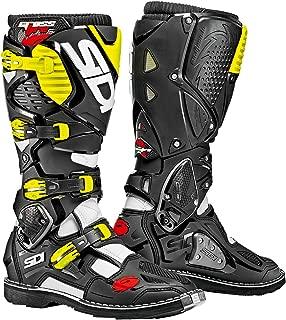 Sidi Crossfire 3 TA Boots (WHITE/BLACK/FLO YELLOW)