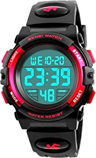 Waterproof Digital Stopwatch Alarm Date for Boys Girls Sports Watches Childrens Gifts