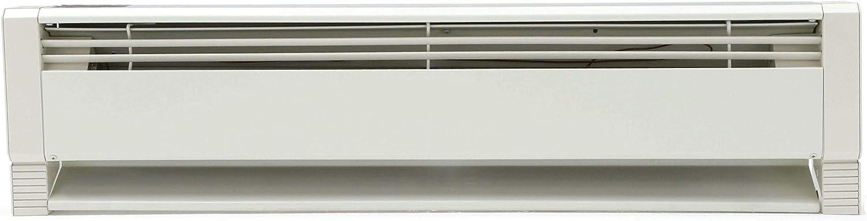 Qmark HBB2004 Liquid Filled Electric Hydronic Baseboard Heater, 2000 Watt, 240 Volt, Beige