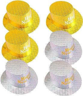 NUOBESTY 3 pezzi 2020 happy new year party top cappelli capodanno festa bomboniere puntelli foto party booth lettera gialla
