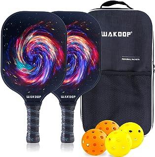 Sponsored Ad - Pickleball Paddles Set, Fiberglass Polypropylene Honeycomb Core, Lightweight Racquet Set of 2 Rackets, 4 Ba...
