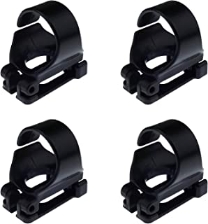 Kasteco 4 Pack Scuba Dive Universal Plastic Clip Snorkel Keeper Tube Holder, Black