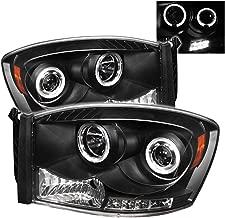 Spyder Auto 5010001 LED Halo Projector Headlights Black/Clear