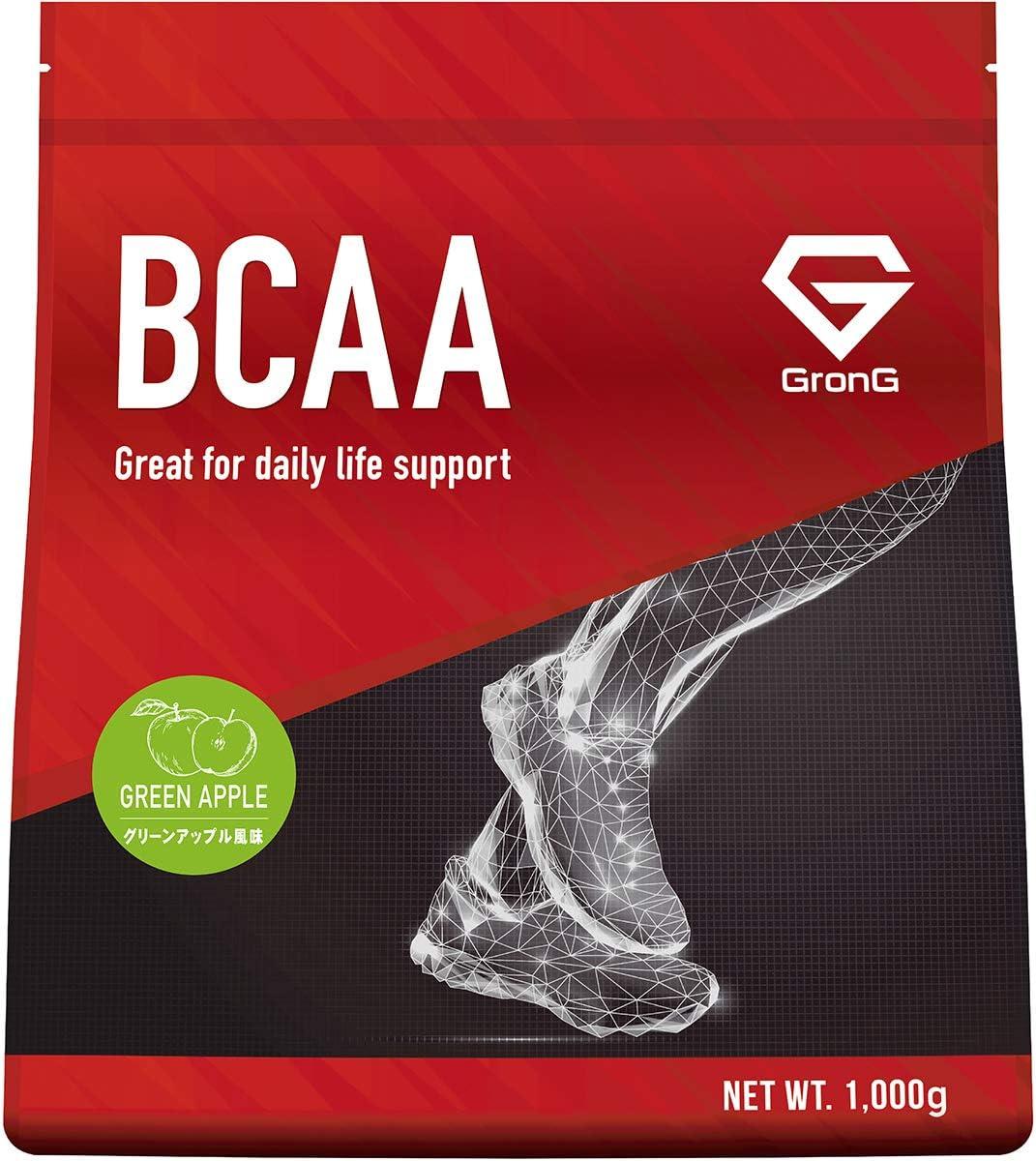 <br /> GronG(グロング) BCAA 必須アミノ酸 グリーンアップル風味 1kg