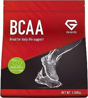 グロング BCAA アミノ酸 グリーンアップル風味 1kg (100食分) 含有率84% 国産
