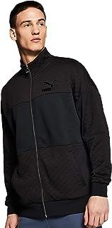Puma Retro Quilted Jacket Black Shirt For Unisex, Size M