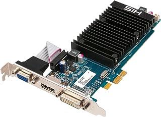 彼のATI Radeon hd5450サイレンス1 GB ddr3 VGA / DVI / ディスプレイポートロープロファイルPCI - エクスプレスビデオカードh545h1gd1