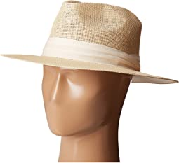 PBF7308 Woven Paper Fedora Hat with Twill Trim