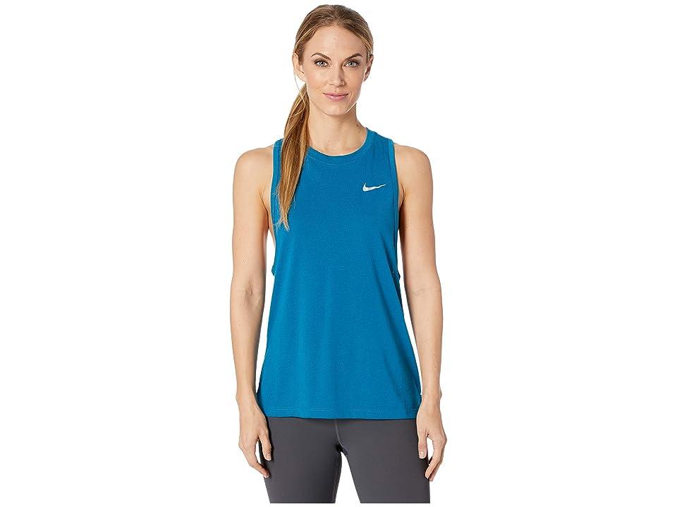Nike Tailwind Running Tank (Green Abyss) Women