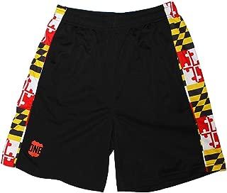 | Black Maryland Flag Men's Running Shorts
