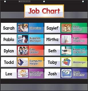 Scholastic Classroom Resources Pocket Chart Class Jobs, Black (SC583864)