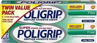 Best Super Poligrip Original Formula Zinc Free Denture and Partials Adhesive Cream, 2.4-ounce Twin pack Review