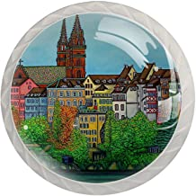 Lade knoppen ronde kristallen glazen kast handgrepen Pull 4 stuks, kleuren van Bazel