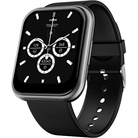"""Noise ColorFit Ultra Bezel-Less Smart Watch with 1.75"""" HD TruView Display, 60 Sports Modes, SpO2, Heart Rate, Stress, REM & Sleep Monitor, Calls & SMS Quick Reply, Stock Market Info (Gunmetal Grey)"""