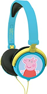 Lexibook Peppa Pig Georges Stereo Headphone, Kids Safe, Foldable and Adjustable, Blue/Green, HP015PP