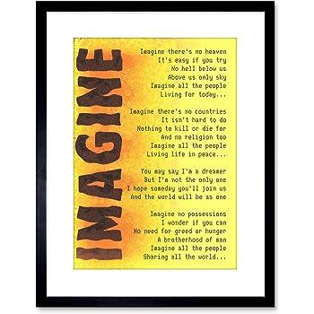 Imagine Lyrics Art