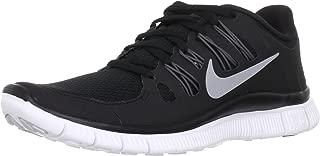 Womens Free Run 5.0+ Running Shoe Black/Dark Grey/White/Metallic Silver