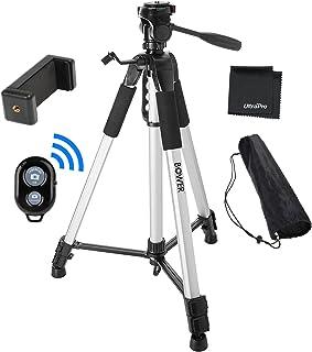 "UltraPro 72"" Inch Heavy-Duty Aluminum Camera Tripod with Universal Smartphone Mount + Bluetooth Remote Control Camera Shut..."