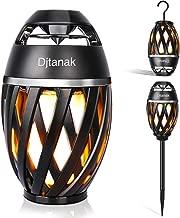 Djtanak Waterproof Flickering Tiki Torch Lights Outdoor Bluetooth Speaker with Pole, Hook, Romantic Dancing Flames, Stereo Sound, Exclusive BassUp, TWS Supported for Indoor Garden Patio