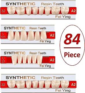 BBTO 84 Pieces Teeth Dentures Acrylic Resin Teeth Halloween Fake Teeth Vampire Horror Teeth Fangs for Halloween Party Cosplay Props Horror Party Favors