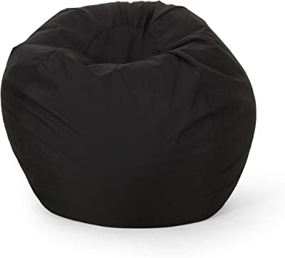 Christopher Knight Home Gwendolyn Modern 3 Foot Bean Bag, Black