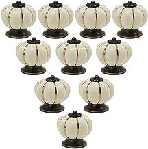 PsmGoods® Europese kunst keramische pompoen-wijnoogst-deur-vak-knopen voor dresser keuken cabinet pulls kast handgrepen 10...