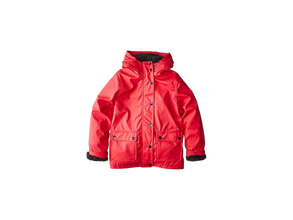 Urban Republic Kids Khloe Raincoat w/ Faux Fur Lining (Little Kids/Big Kids) (Red) Girl