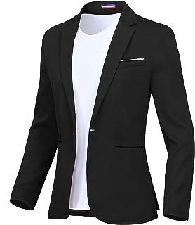 Sponsored Ad - Men's Blazer One Button Slim Fit Lightweight Casual Sports Coat
