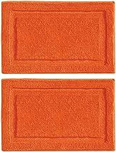 mDesign Soft Microfiber Polyester Non-Slip Rectangular Spa Mat, Plush Water Absorbent Accent Rug for Bathroom Vanity, Bathtub/Shower - Machine Washable, 2 Pack - 34