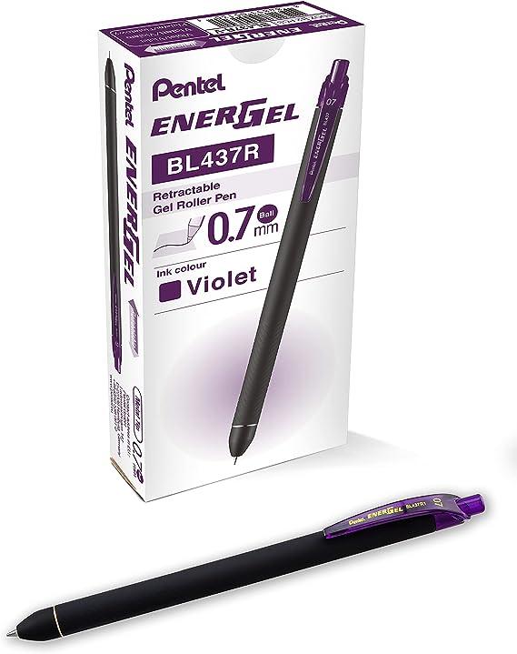 Pentel BL437R1BP12M Pen,energel,kuro,.7mm.12pk
