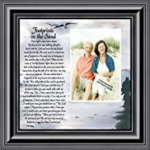 Footprints in the Sand, Personalized Framed Picture 10X10 6703B