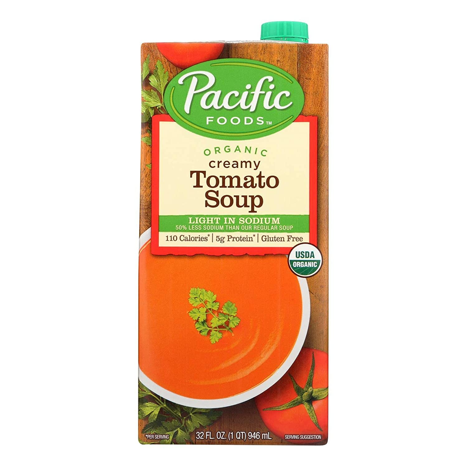 Pacific SEAL limited product Natural Low Sodium Creamy Oz Tomato Recommended 12x32 Soup