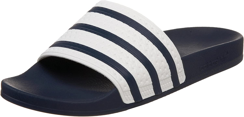 Adidas Originals Men's Adilette Slide Sandal, Adi bluee White, 12 M US